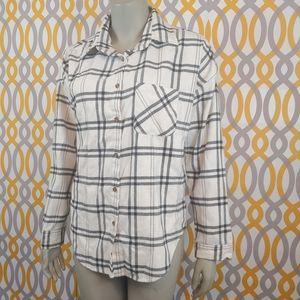 BRANDY MELVILLE Flannel Plaid Button Down Shirt